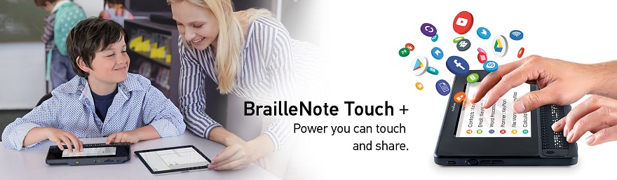 Bild på BrailleNote Touch Plus